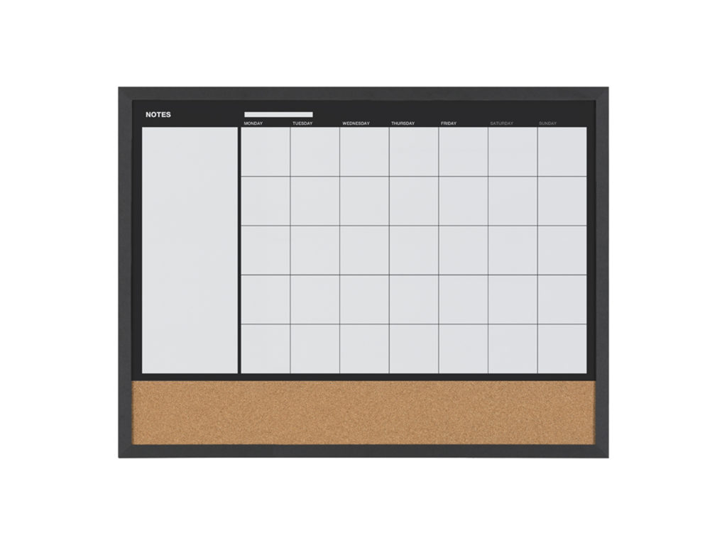 3-in-1 Monthly Black Wood Planner
