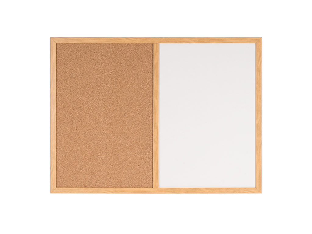 Maya Series Cork Combo Board Wood Finish Frame