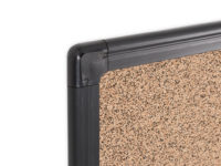 Maya Series Tech Cork Board Black Plastic Frame