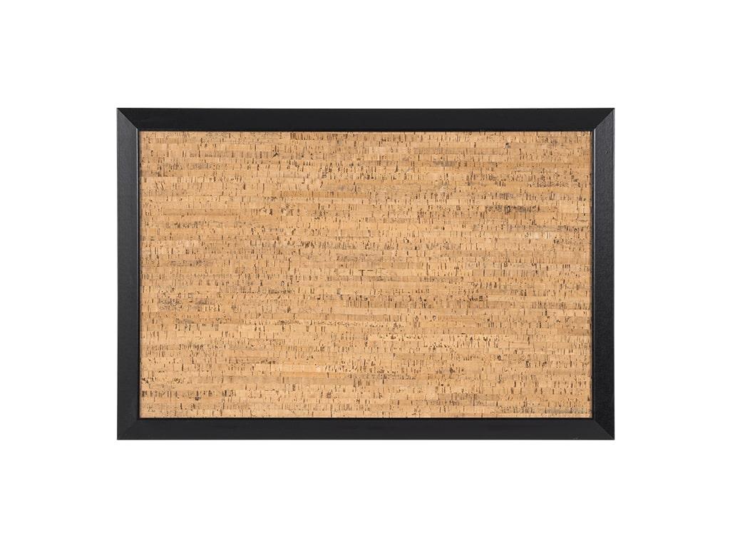 BLACK KAMASHI NATURAL CORK BULLETIN WOOD FRAMED BOARD