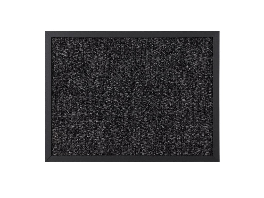 Black Fabric Wood Framed Bulletin Board