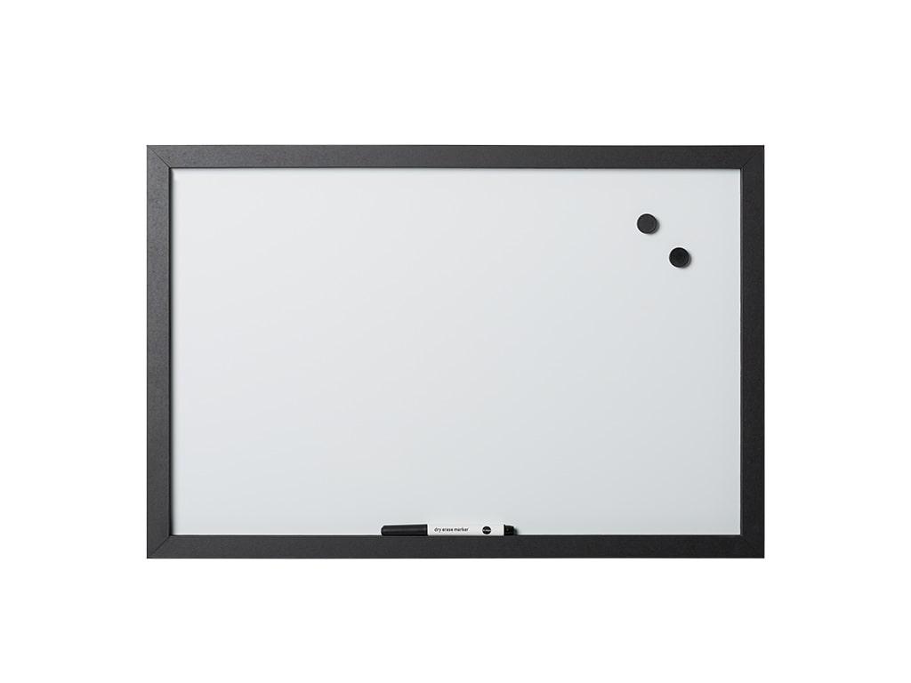 Black Magnetic Dry-Erase Board