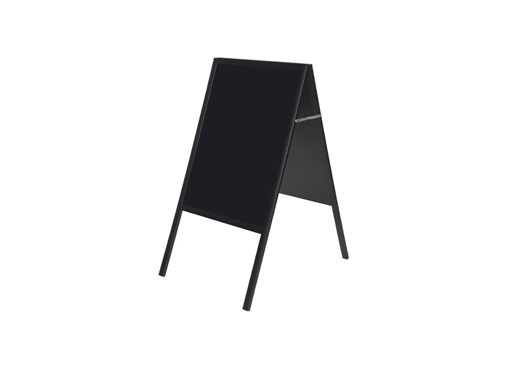 Black Magnetic Wet Erase A-Frame Sign Board