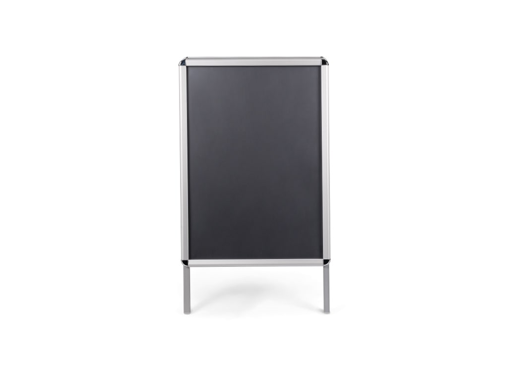 Black Magnetic Wet Erase Aluminum Sign Board Stand
