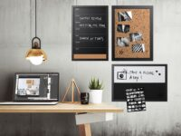 Black Speckled Natural Cork Board