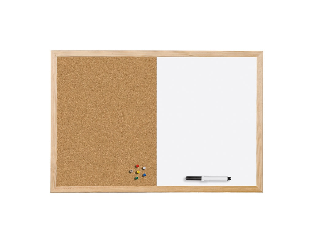Combo Cork and Dry-Erase Board Pine Frame
