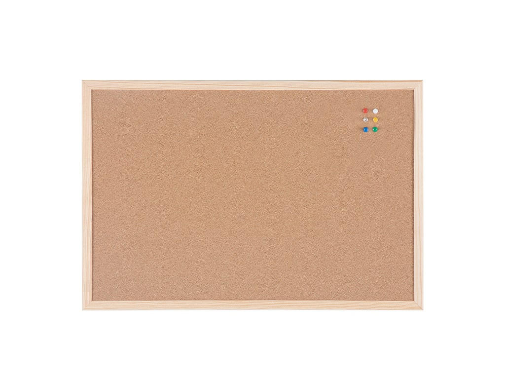 Cork Bulletin Board Pine Frame