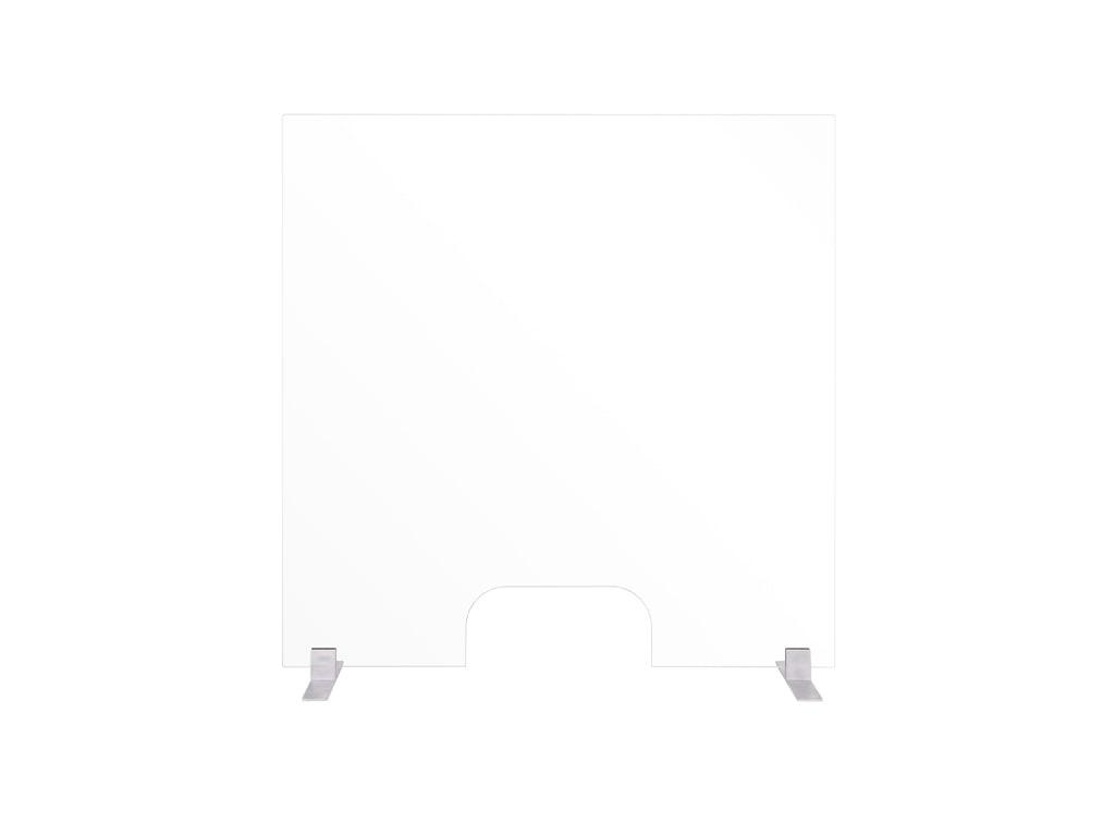 Frameless Glass Countertop Barrier