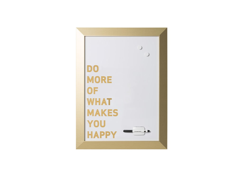 Gold Kamashi Dry Erase _Do more of what makes you happy_ Quote Board