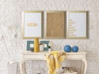 Gold Kamashi Dry Erase _Dream_ Quote Board