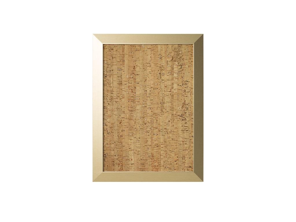 Gold Kamashi Natural Cork Bulletin Wood Framed Board