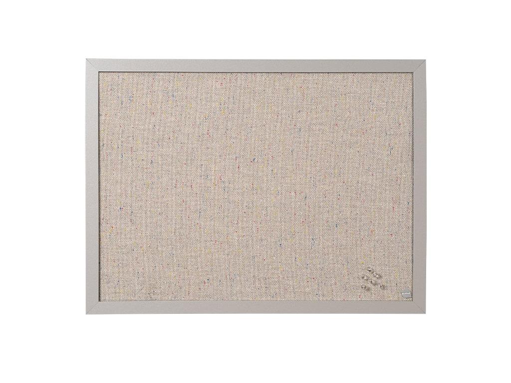 Gray Fabric Wood Framed Bulletin Board