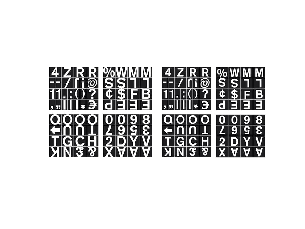 Magnetic Set of Letters, Numbers & Symbols
