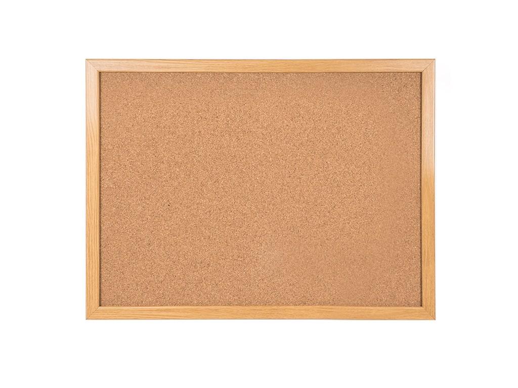 Maya Series Cork Board Wood Finish Frame