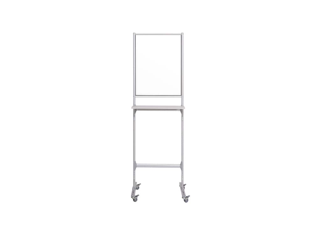 Mobile Individual Standing Workstation with Glass Panel