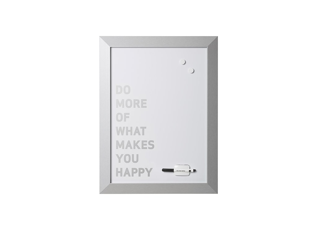 Silver Kamashi Dry Erase Do more of what makes you happy Quote Board