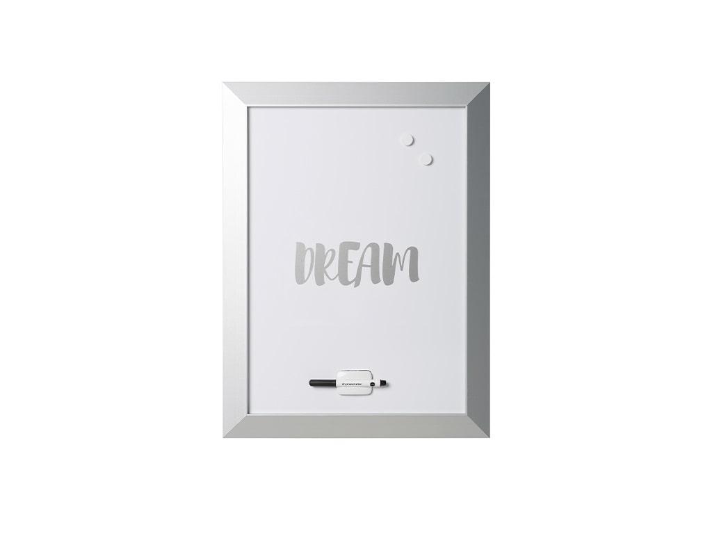 Silver Kamashi Dry Erase Dream Quote Board