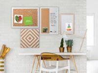 White Speckled Natural Cork Board