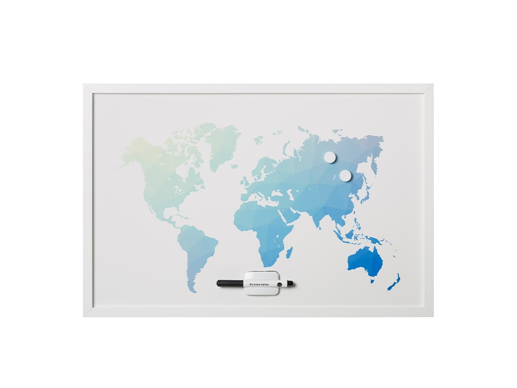World Map Travel Dry Erase Boards