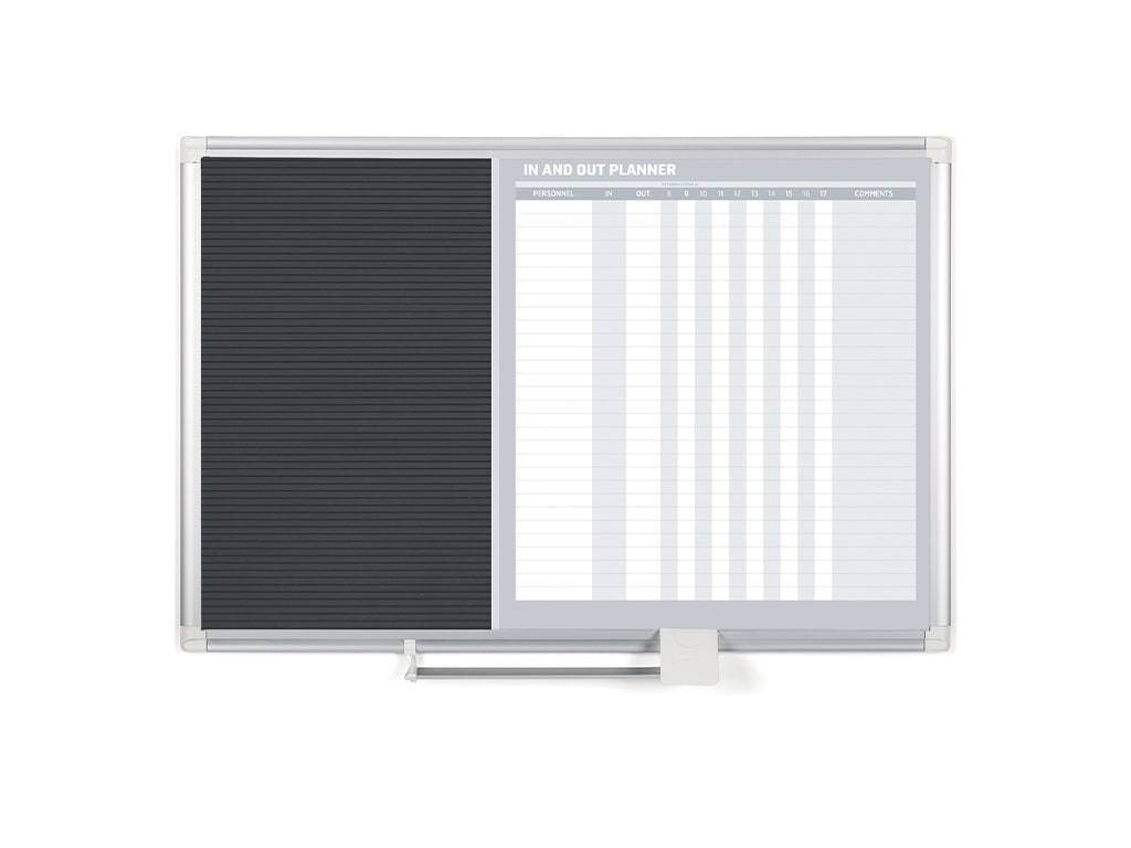 In/Out Magnetic Dry-Erase and Letter Board Combo